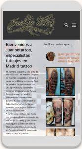 juanpetattoo - Página con WordPress