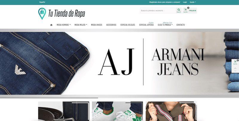pagina web prestashop