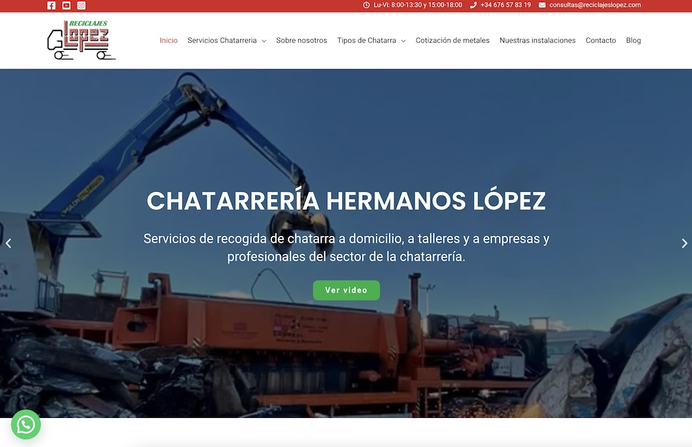 pagina web reciclajes lopez