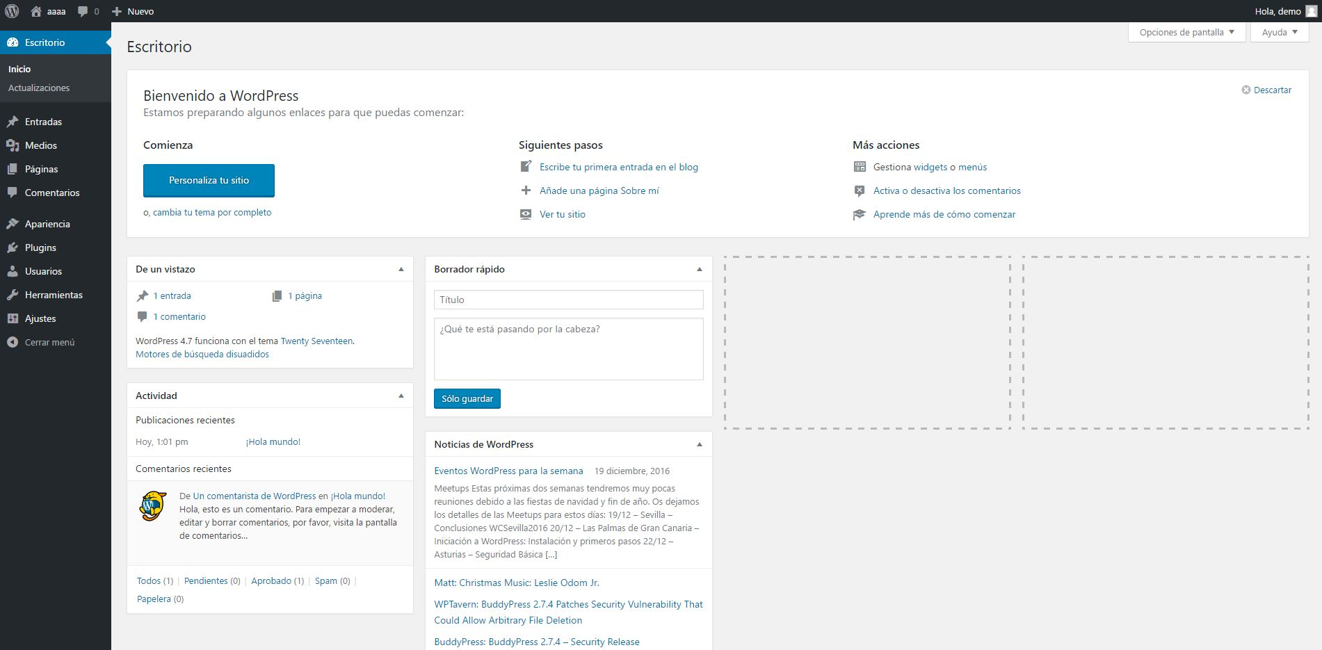 WordPress instalado