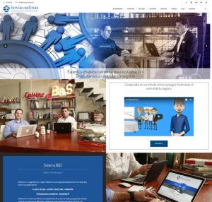 Página de inicio en PC de Bovia&Salinas