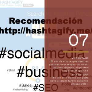 paso 7 uso de hashtags